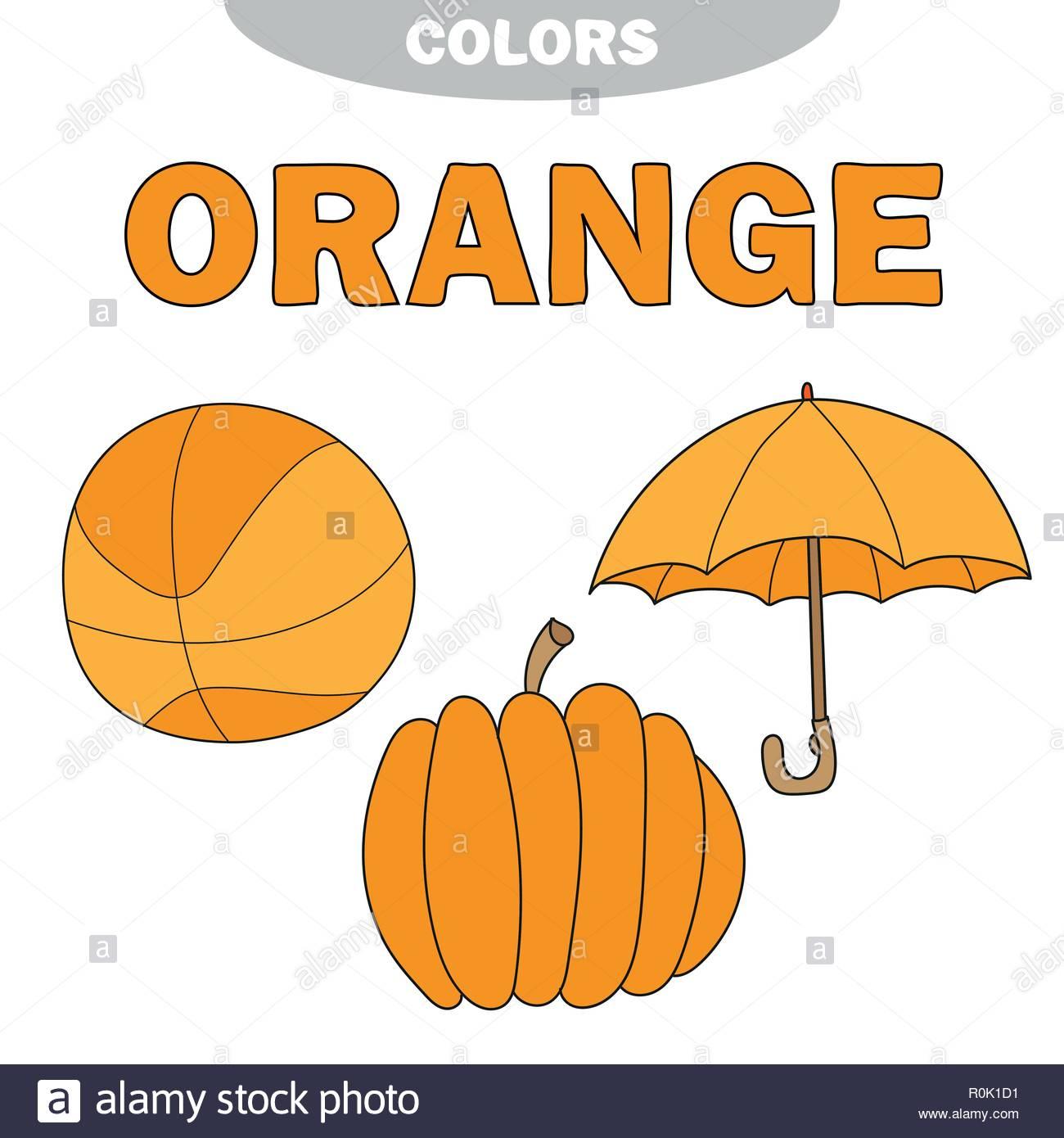 Apprendre Les Couleurs - Orange. Feuille De Travail. Jeux intérieur Jeux Pour Apprendre Les Couleurs