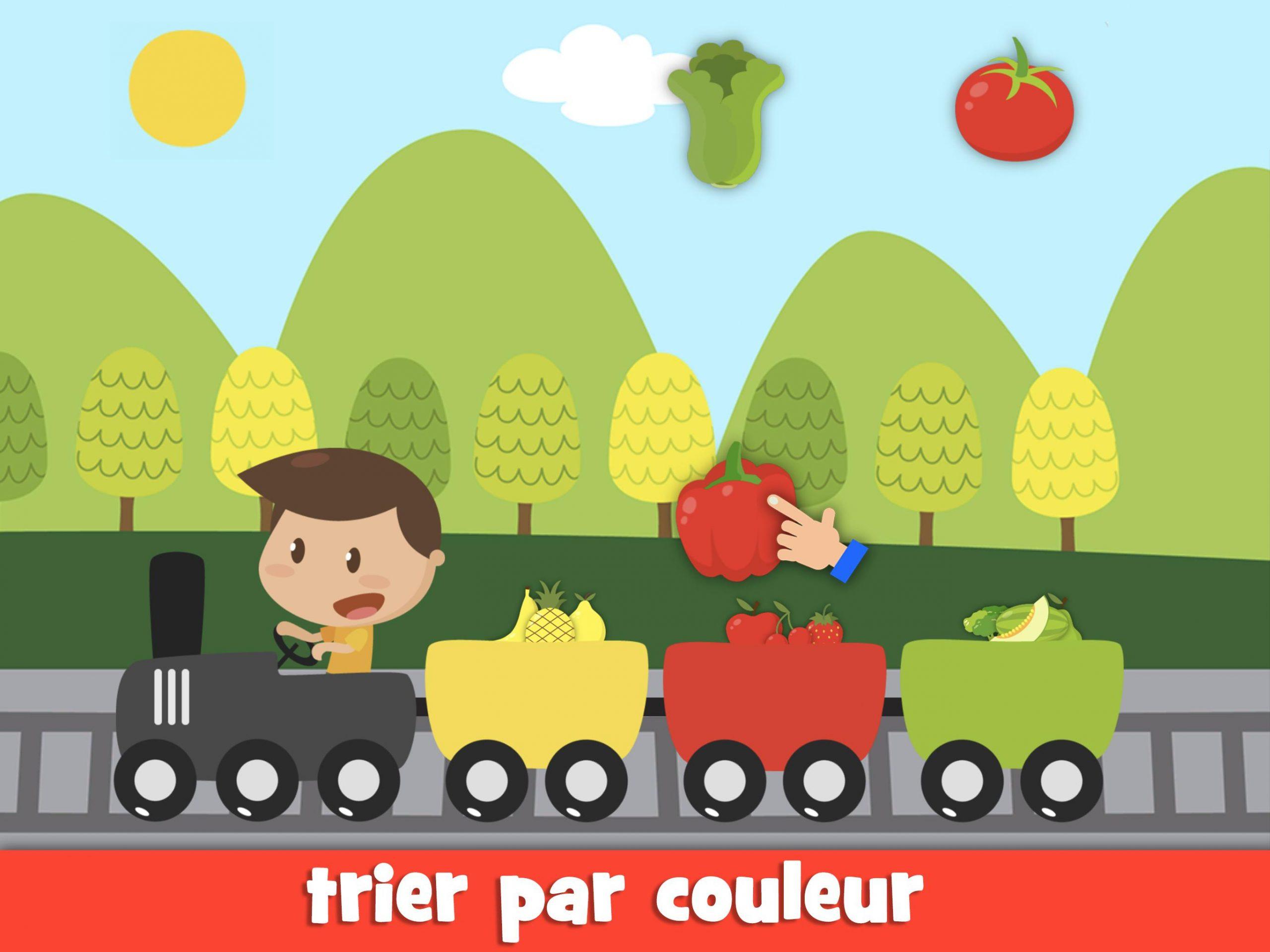 Apprendre Les Fruits Et Légumes Jeux Pour Enfants Pour tout Jeux Pour Apprendre Les Couleurs