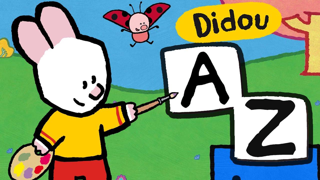 Apprendre Les Lettres Avec Didou | Les Lettres De A À Z | Alphabet  Compilation Hd , Plus 🎨 Ici ⬇⬇⬇ intérieur Apprendre Les Lettres De L Alphabet