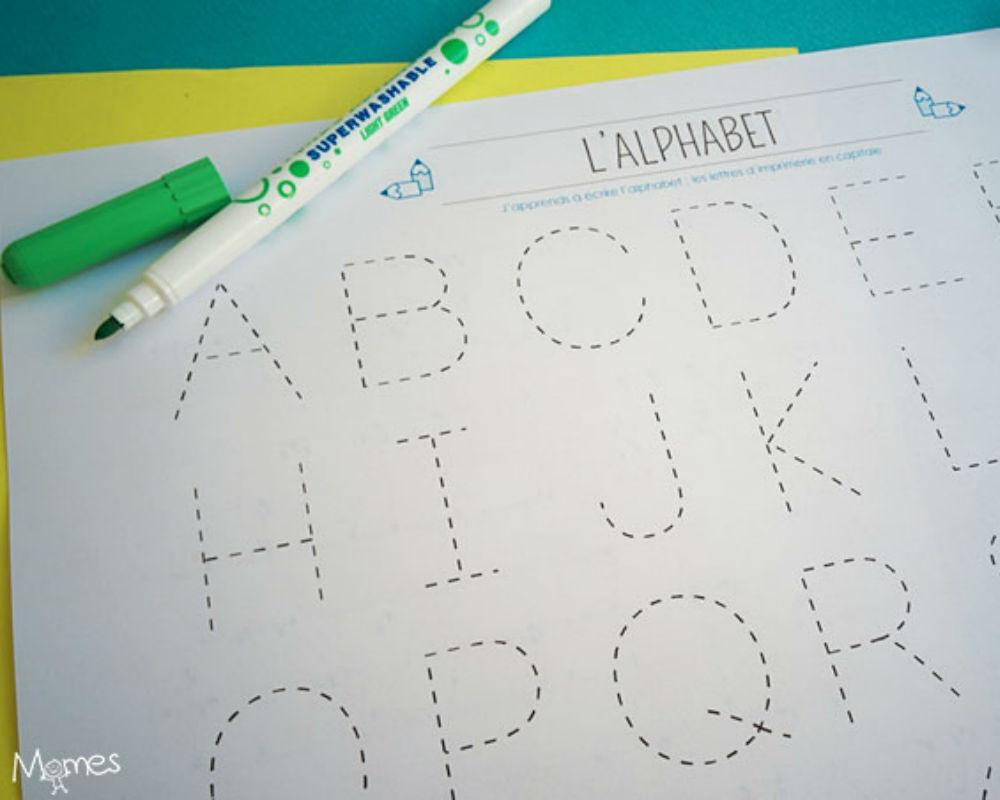 Apprendre : Tracer Les Lettres De L'alphabet En Majuscule encequiconcerne L Alphabet En Majuscule
