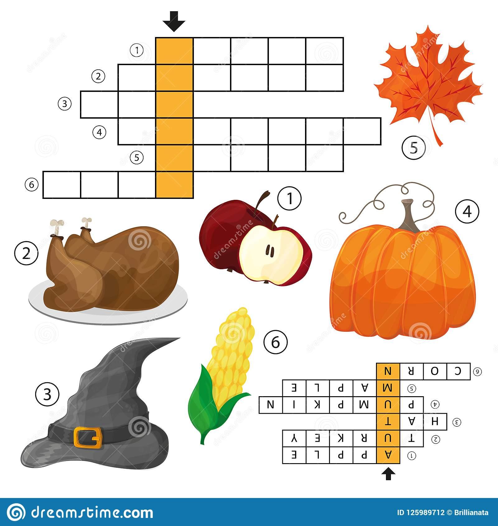 Apprenez L'anglais Avec Un Jeu De Mots Croisé D'automne Pour dedans Jeu De Mot En Anglais