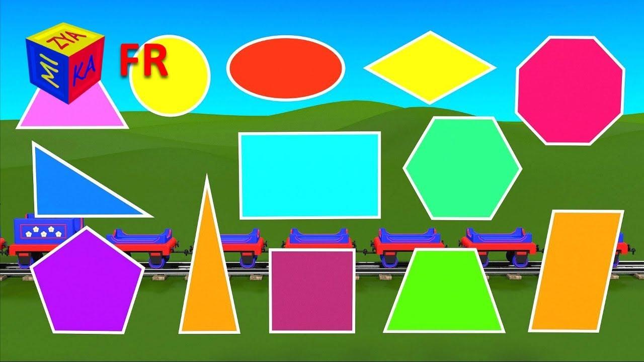 Apprenez Les Formes Géométriques En Francais Avec Tchou-Tchou Le Petit  Train - Pour La Maternelle dedans Les Formes Geometrique