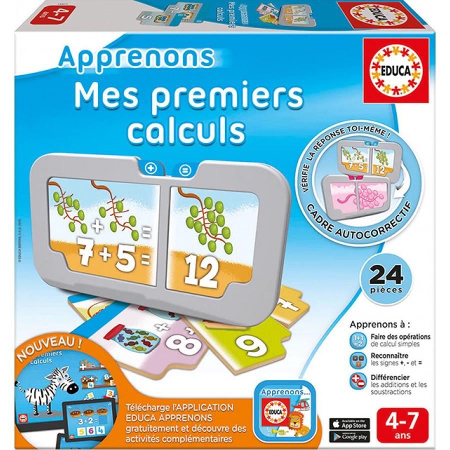 Apprenons Mes Premiers Calculs, Educa, Jeux, Apprentissage tout Jeux Educatif 5 Ans