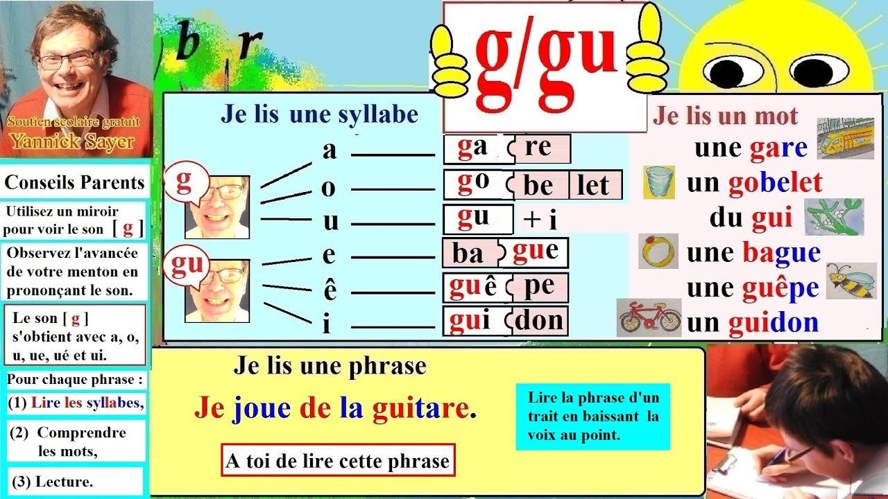 Apprentissage De La Lecture Maternelle Cp En Français : Alphabet # G, Gu  (19) encequiconcerne Exercice Pour Apprendre L Alphabet En Maternelle