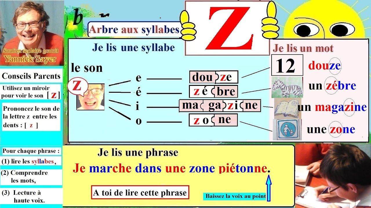 Apprentissage De La Lecture Maternelle Cp En Français : Alphabet # Z, Z (22) encequiconcerne Apprendre L Alphabet En Francais Maternelle