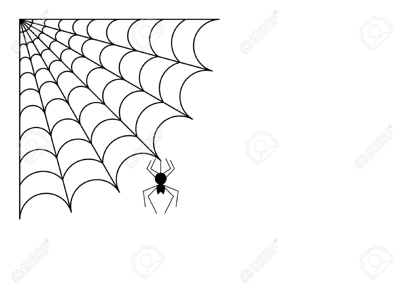 Araignée Avec Toile D'araignée tout Dessin Toile Araignée