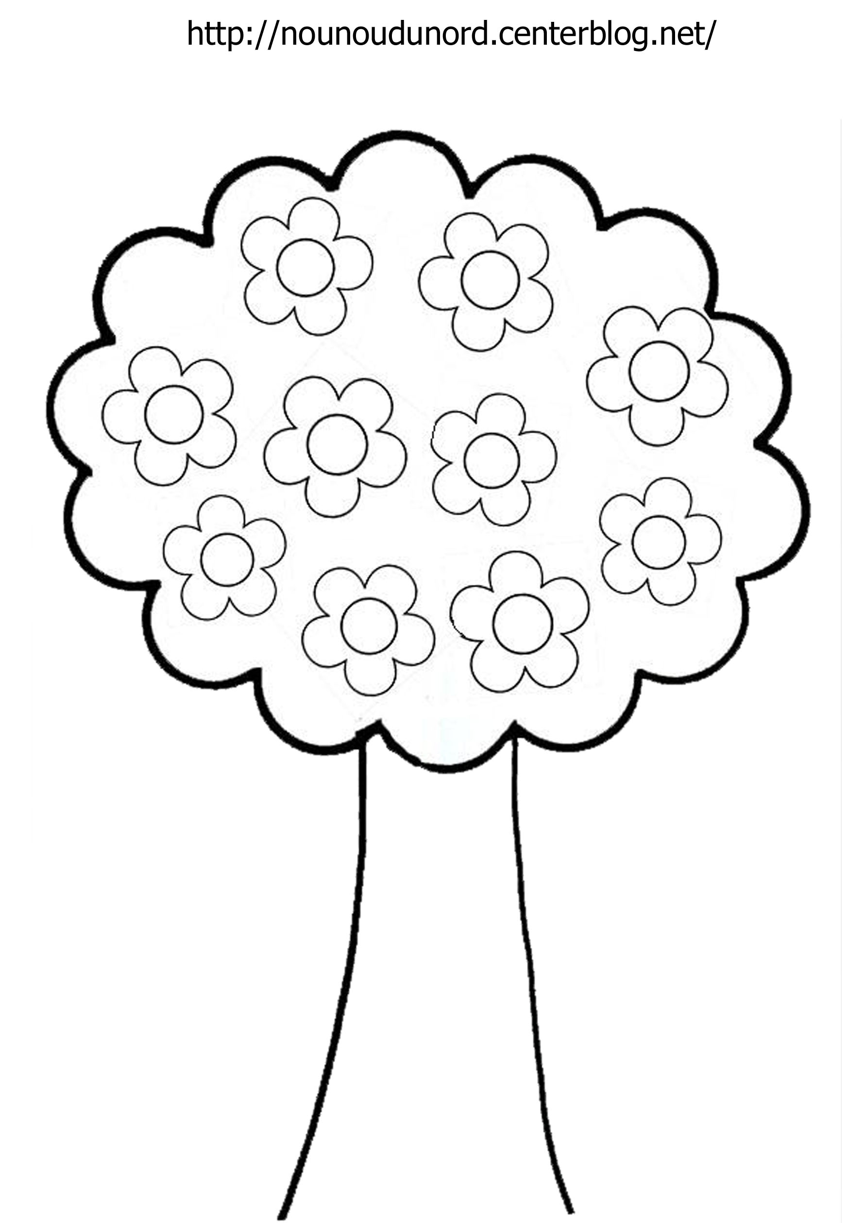 Arbre #15 (Nature) – Coloriages À Imprimer avec Dessin De Feuille D Arbre À Imprimer