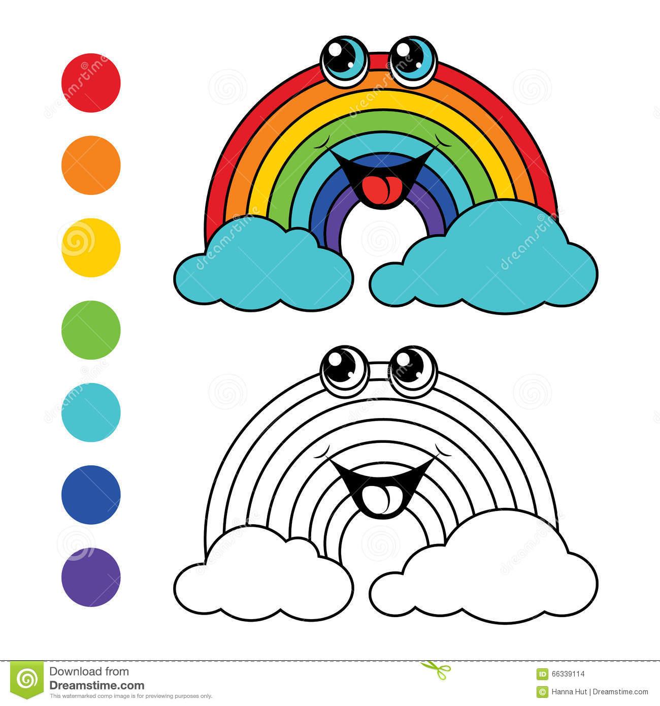 Arc-En-Ciel De Livre De Coloriage, Disposition D'enfants tout Arc En Ciel A Colorier