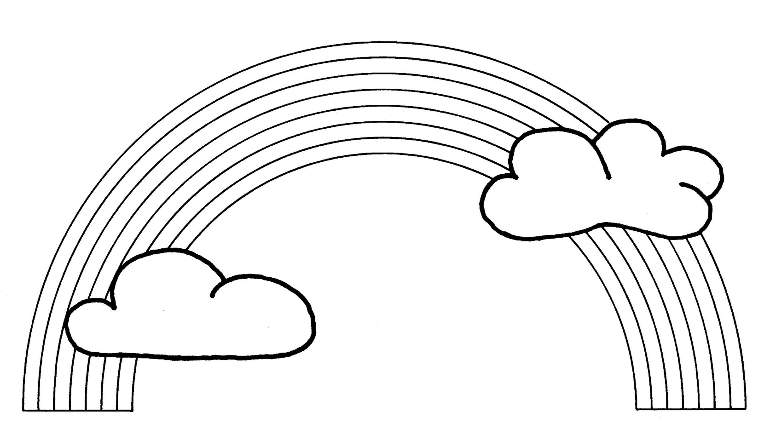 Arc-En-Ciel (Nature) – Coloriages À Imprimer serapportantà Arc En Ciel A Colorier