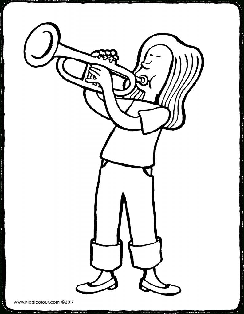 Archief Kleurprenten - Page 63 Sur 86 - Kiddicoloriage avec Trompette À Colorier