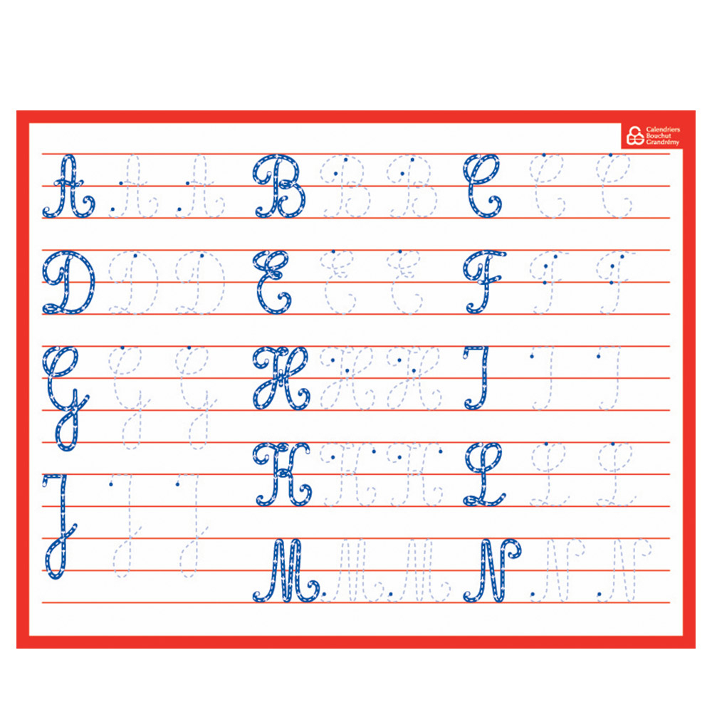 Ardoise Blanche Bouchut Effaçable Alphabet En Majuscule serapportantà L Alphabet En Majuscule