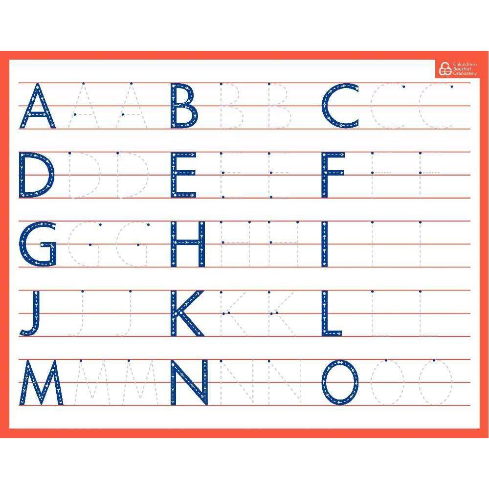 Ardoise Effaçable À Sec Majuscules avec Alphabet En Pointillé A Imprimer