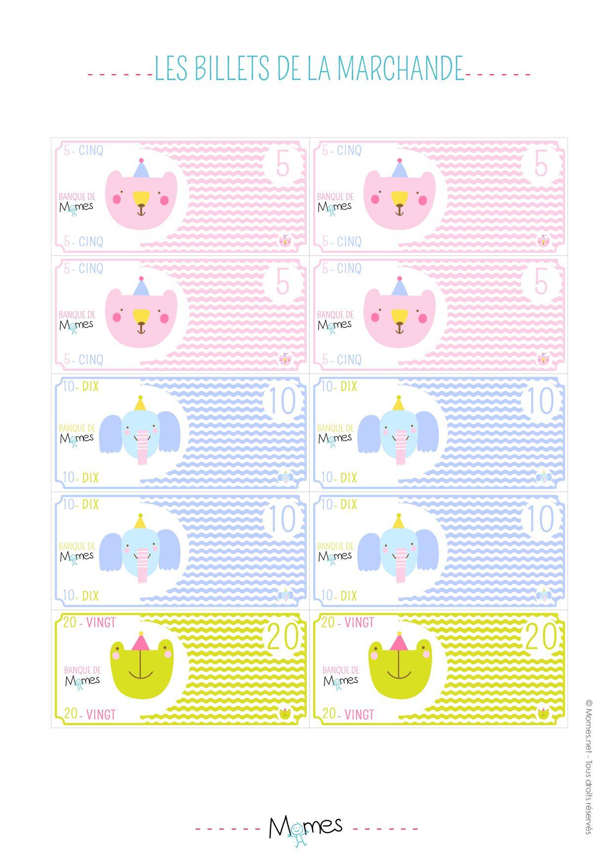 Argent À Imprimer Pour Jouer À La Marchande | Jouer À La tout Pieces Et Billets Euros À Imprimer