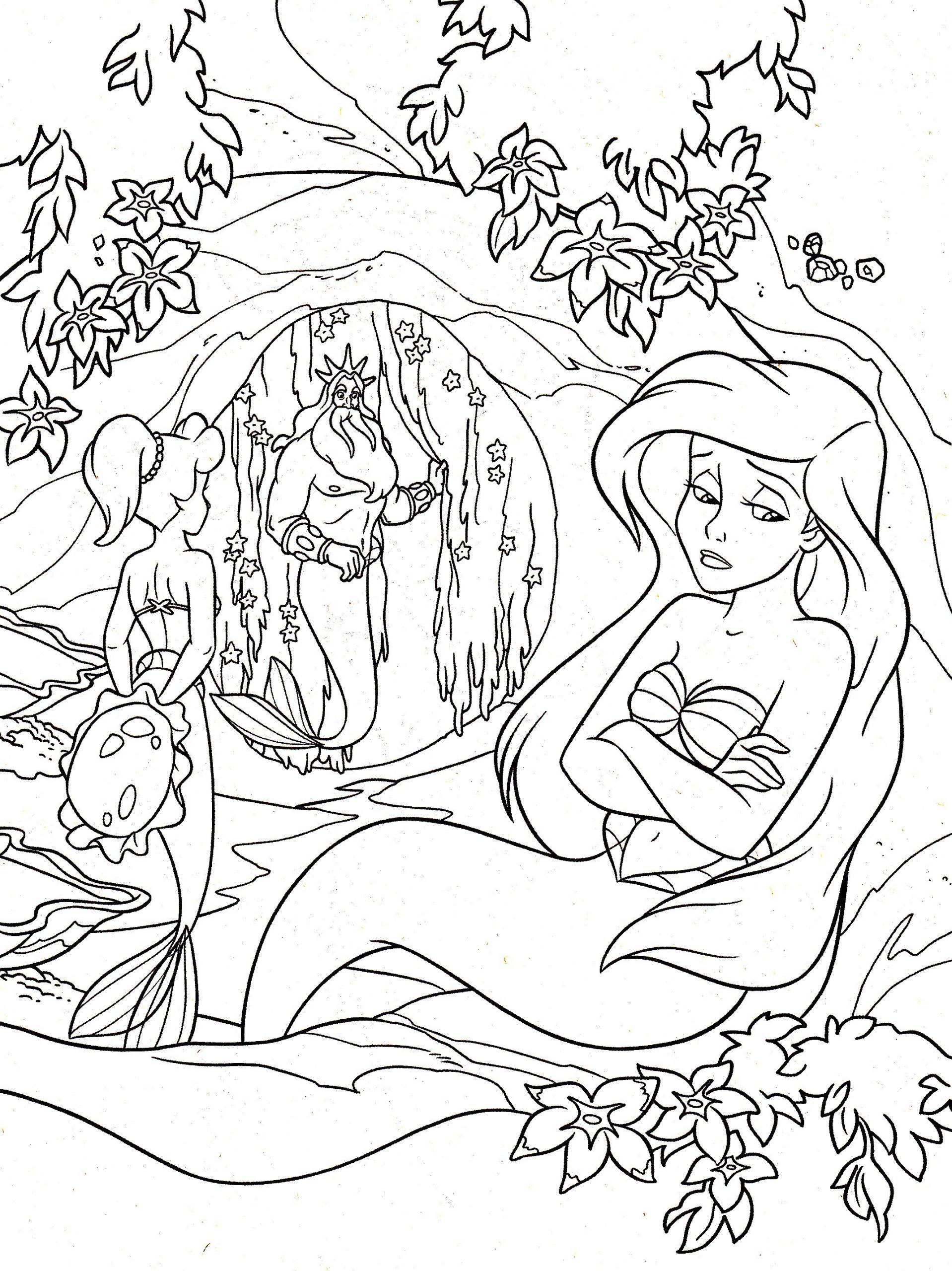 Ariel La Petite Sirene - Retour En Enfance - Coloriages concernant La Petite Sirène À Colorier