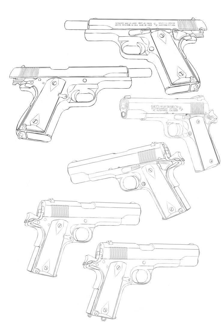 Armes À Feu / Guns ♤Melyk | Dessin Militaire, Tutoriel destiné Comment Dessiner Un Fusil