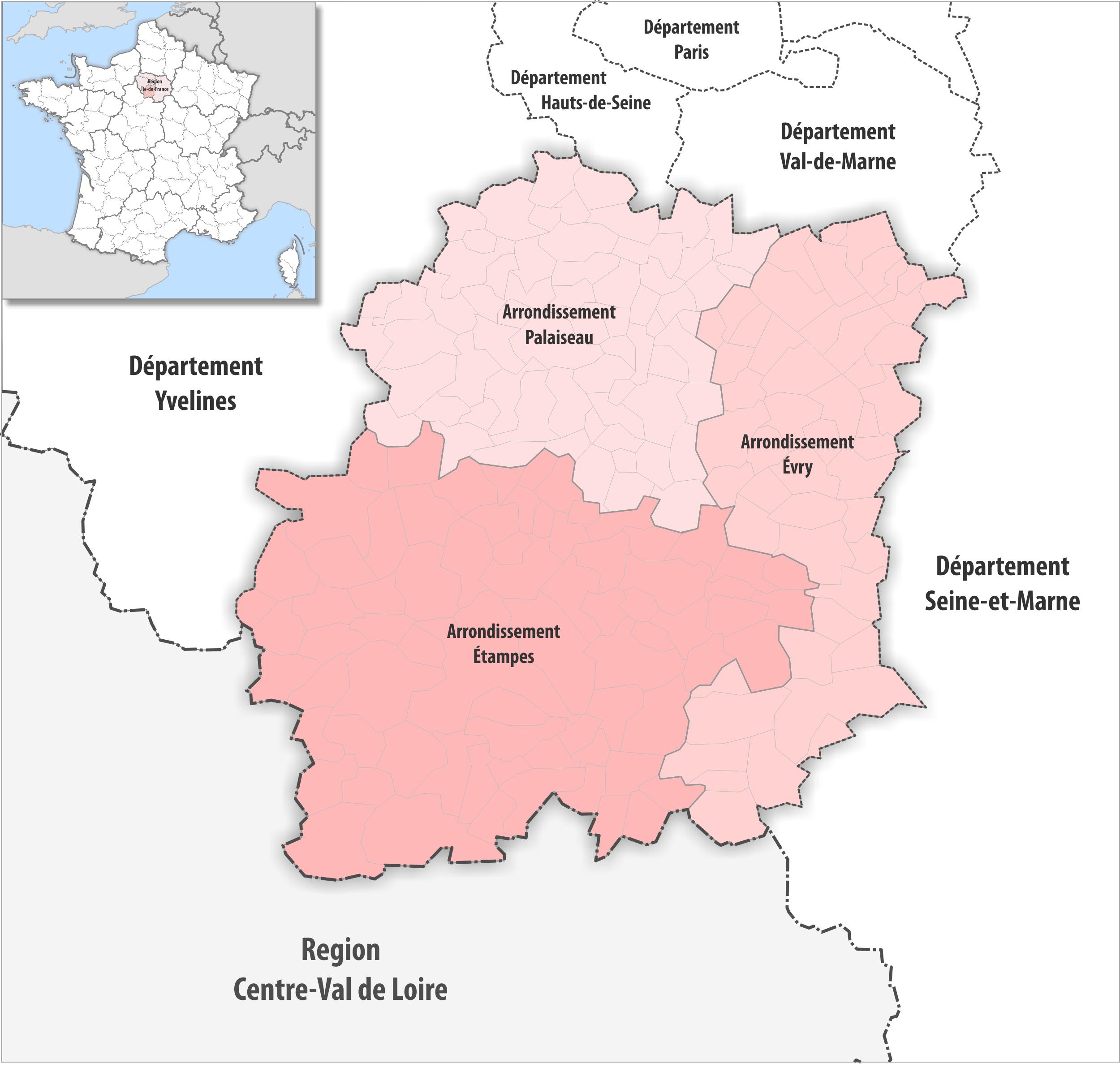 Arrondissements De L'essonne — Wikipédia encequiconcerne Numéro Des Départements