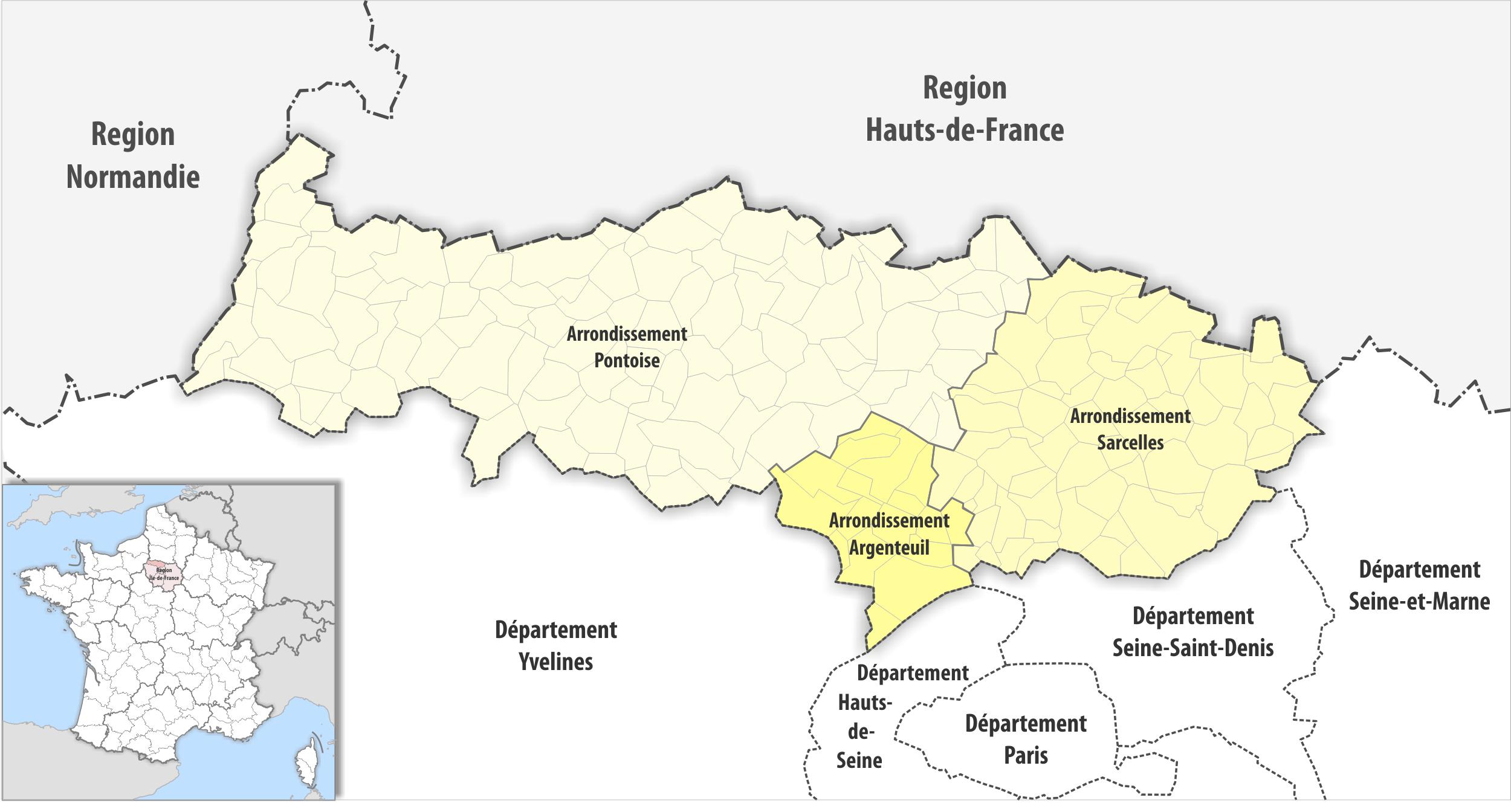 Arrondissements Du Val-D'oise — Wikipédia dedans Numéro Des Départements