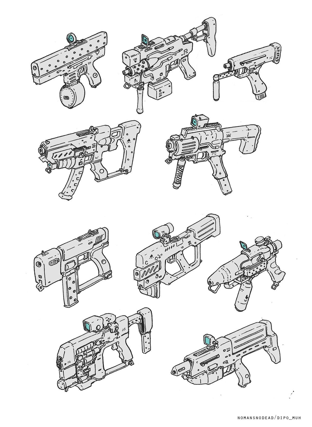 Artstation - Sketch For Fun, Dipo Muh. | Comment Dessiner Un tout Comment Dessiner Un Fusil