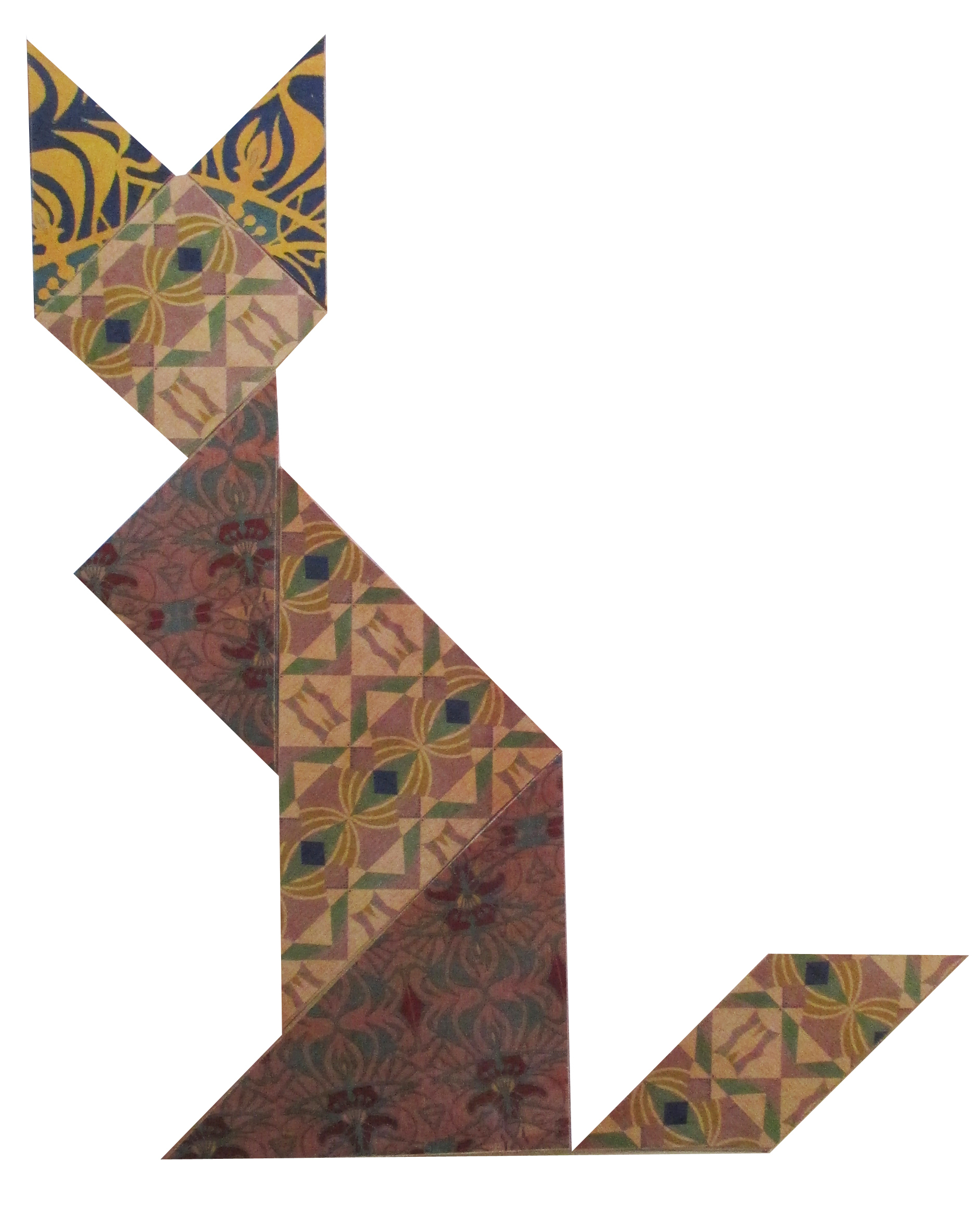 Art'tangrams | Creation destiné Tangram Chat