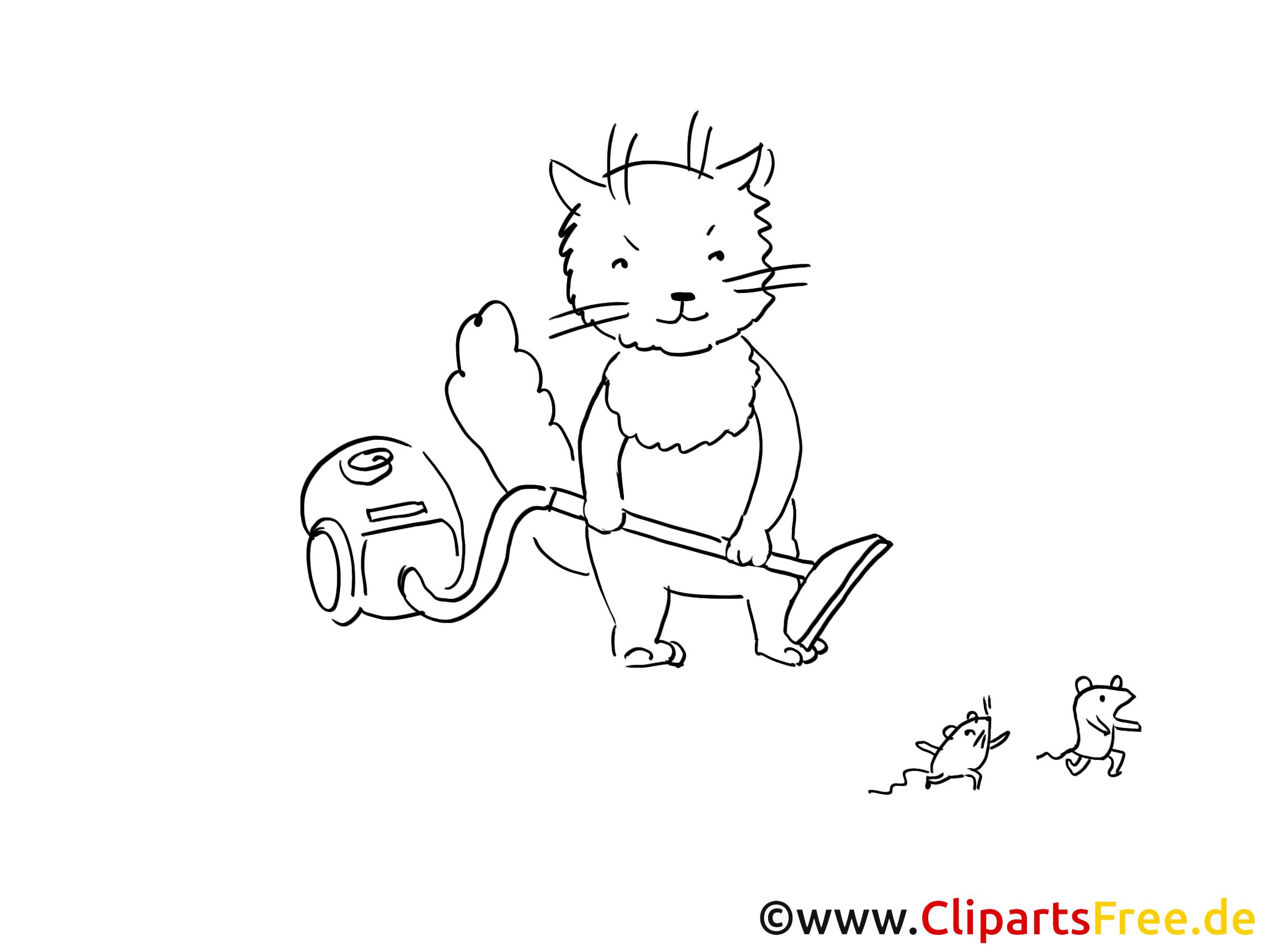 Aspirateur Clip Art Gratuit – Chats À Colorier - Chats concernant Coloriage Aspirateur