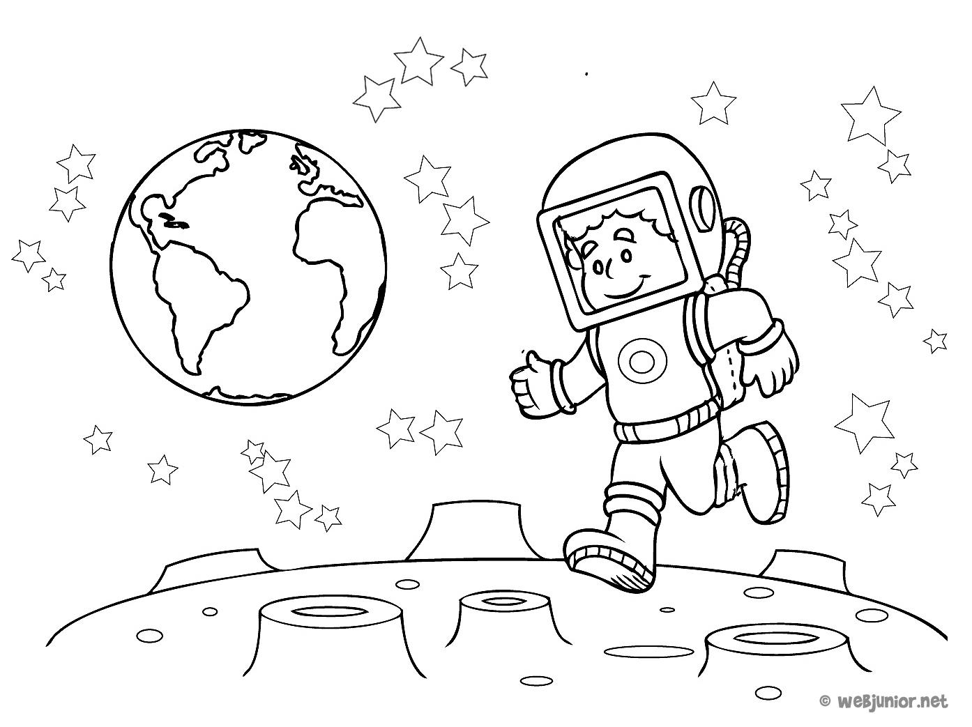 Astronaute #23 (Métiers Et Professions) – Coloriages À Imprimer à Coloriage Astronaute