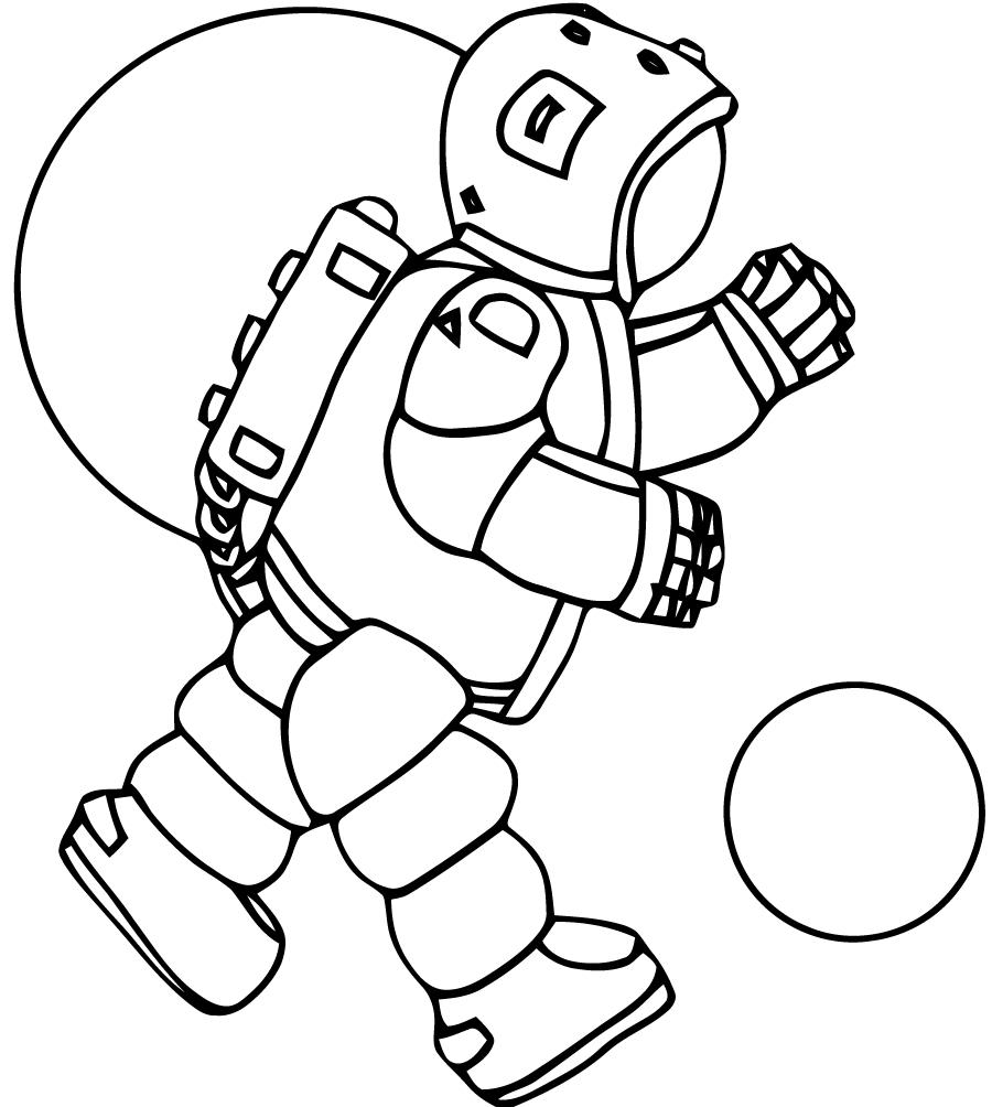 Astronaute #44 (Métiers Et Professions) – Coloriages À Imprimer concernant Coloriage Astronaute