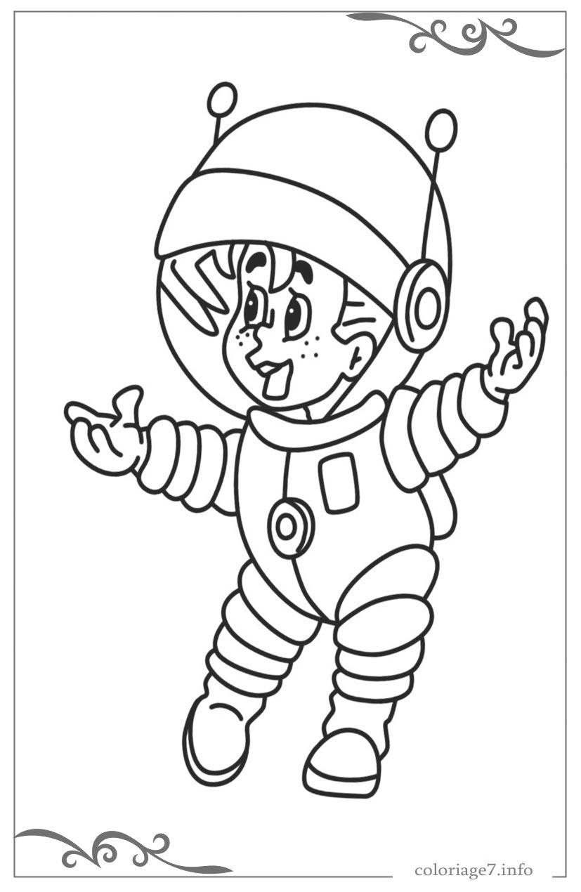 Astronautes Jeux De Coloriage En Ligne tout Coloriage Astronaute