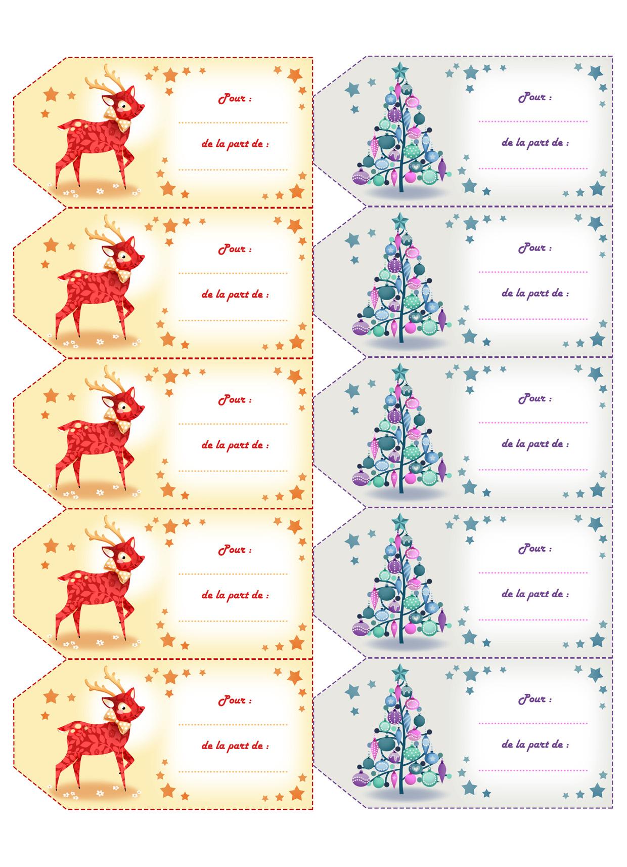 Astuce*° Des Étiquettes Pour Vos Cadeaux De Noël À Imprimer serapportantà Etiquette Noel À Imprimer