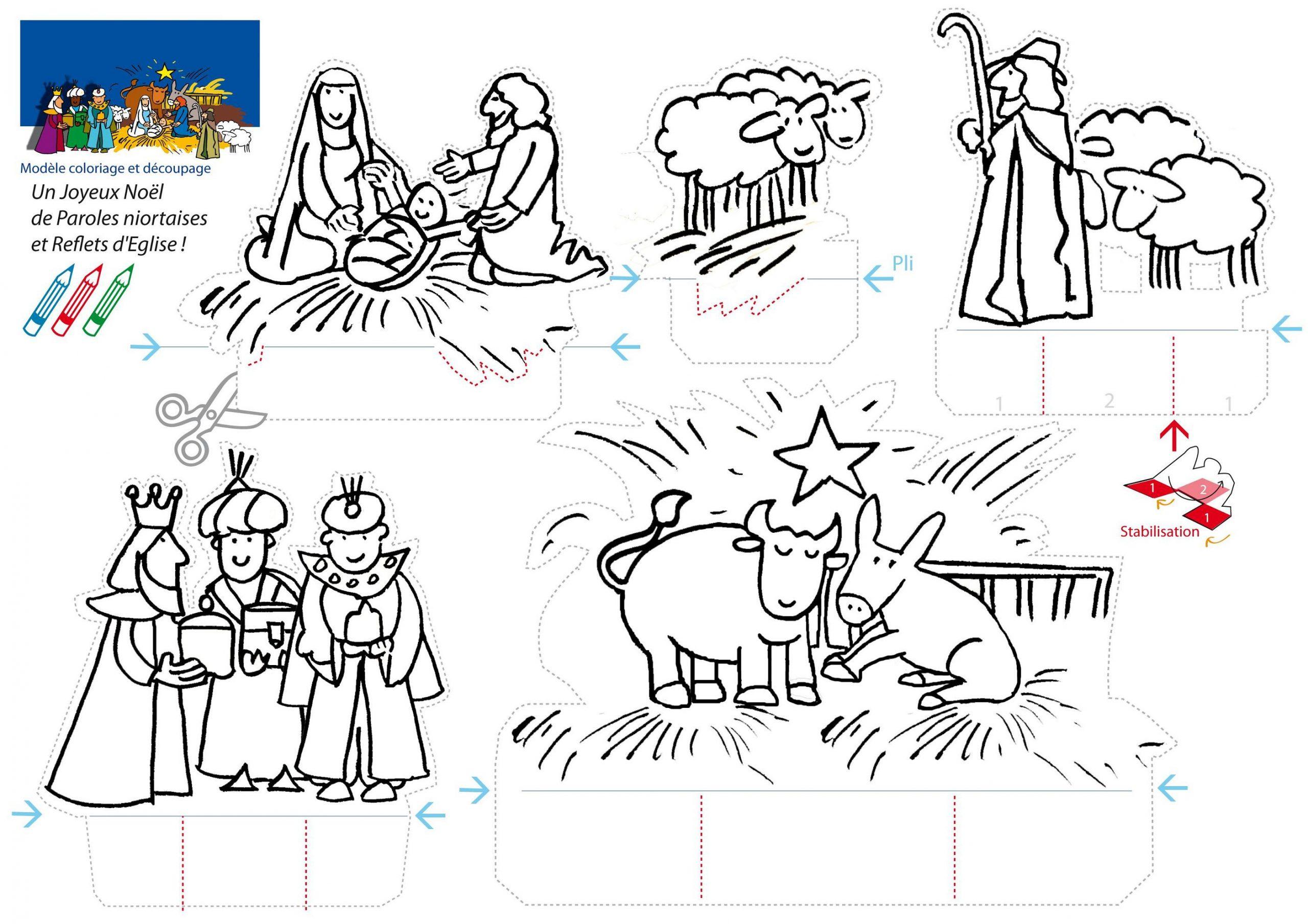 Atelier De Noël Pour Les Enfants : Une Crèche Faite Maison dedans Creche A Imprimer
