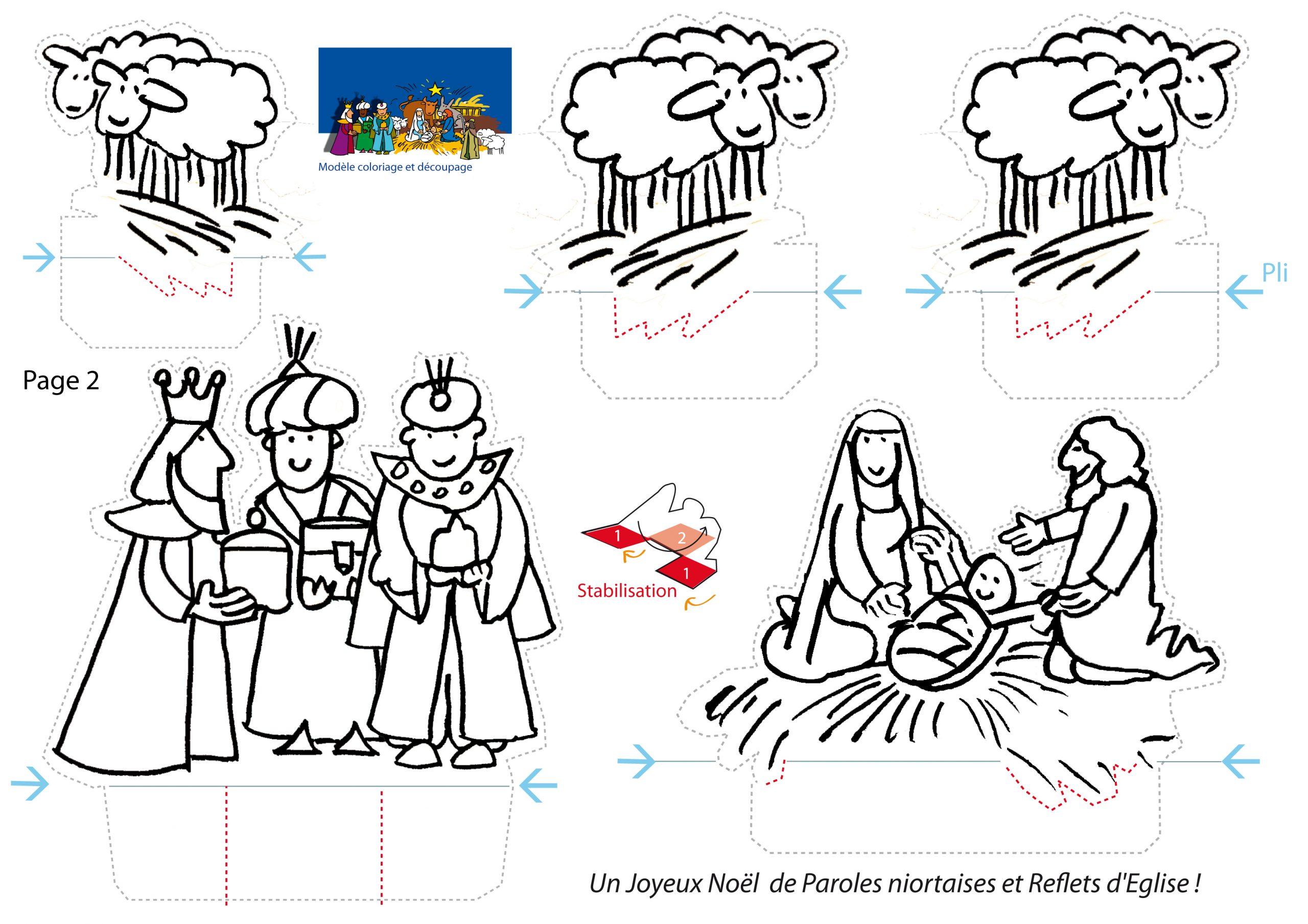 Atelier De Noël Pour Les Enfants : Une Crèche Faite Maison intérieur Creche A Imprimer