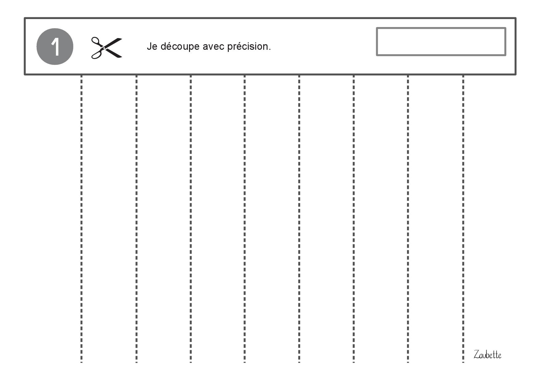 Atelier Découpage Ms-Gs - Zaubette destiné Fiche D Exercice Grande Section A Imprimer