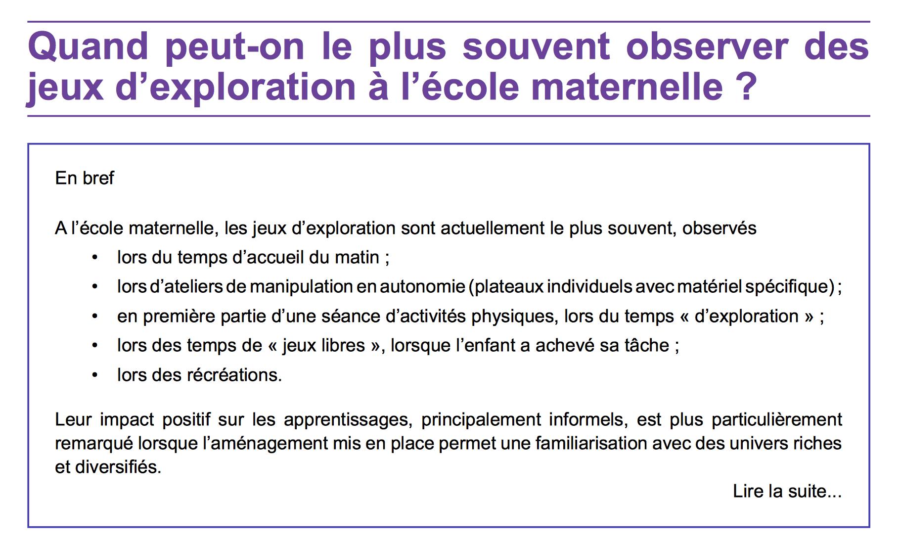 Atelier D'explorations Libres serapportantà Jeux Enfant Maternelle