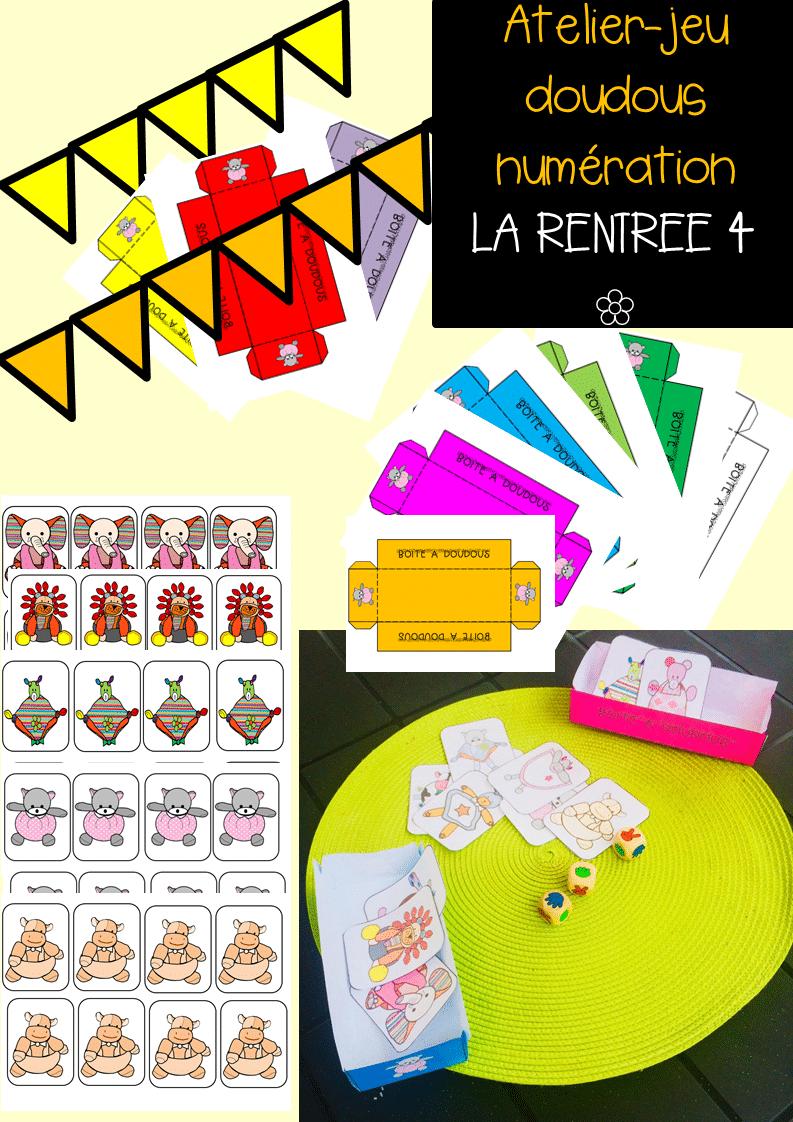 Atelier Jeu Doudous Numération La Rentree 4 dedans Jeux Maternelle Moyenne Section