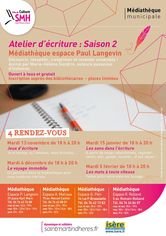Atelier - Jeux D'écriture À La Médiathèque dedans Jeux D Écriture Gratuit
