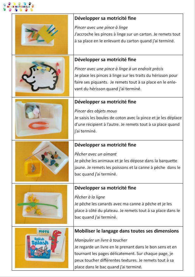 Ateliers Autonomes Période 1 Pour Les Petites Sections (Ps dedans Jeux En Ligne Maternelle Petite Section