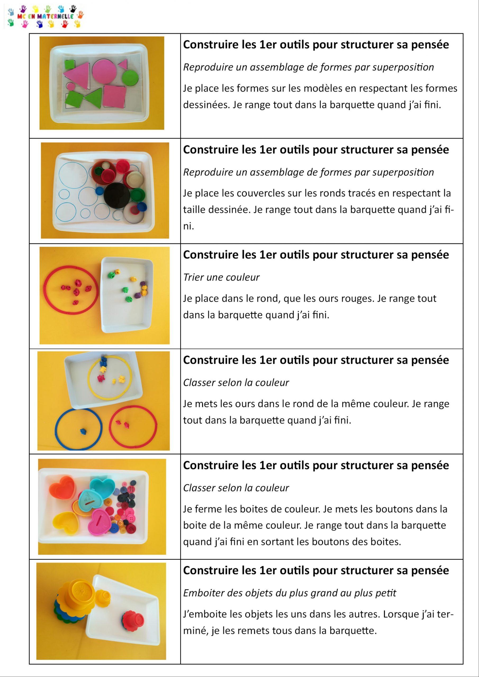 Ateliers Autonomes Période 1 Pour Les Petites Sections (Ps tout Jeux Gratuit Maternelle Petite Section