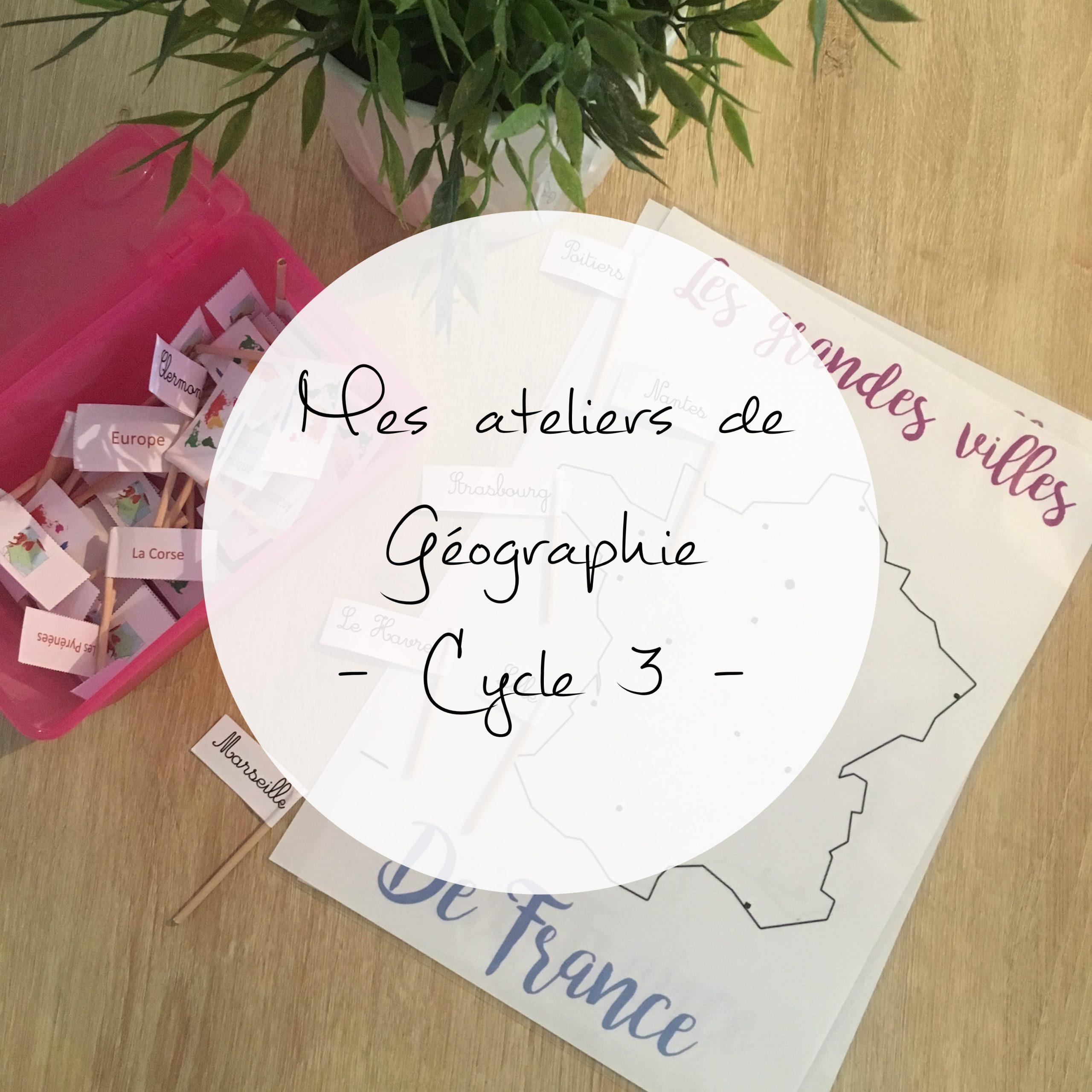 Ateliers De Géographie | Maitresse De La Forêt concernant Jeux Géographique
