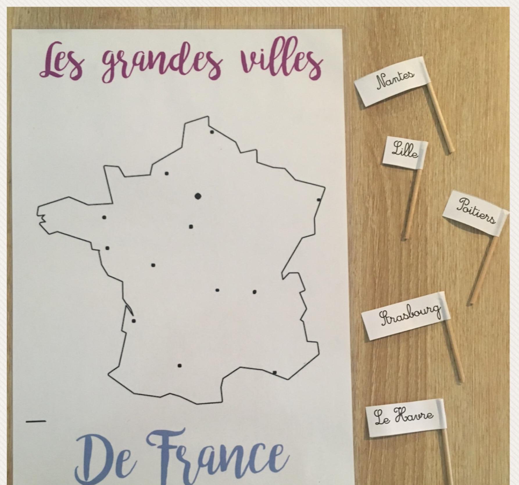 Ateliers De Géographie | Maitresse De La Forêt encequiconcerne Jeux Des Villes De France