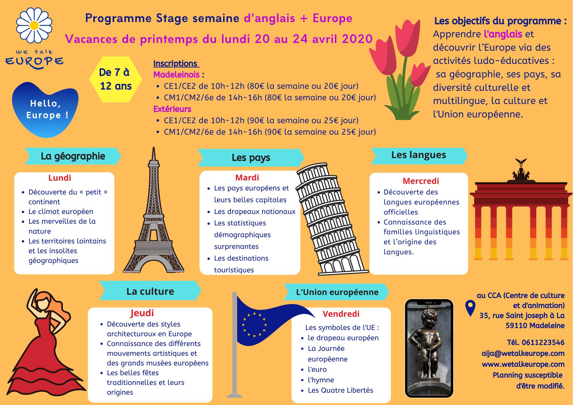 Ateliers Et Stages - Parler L'europe Programme Éducatif tout Apprendre Pays Europe