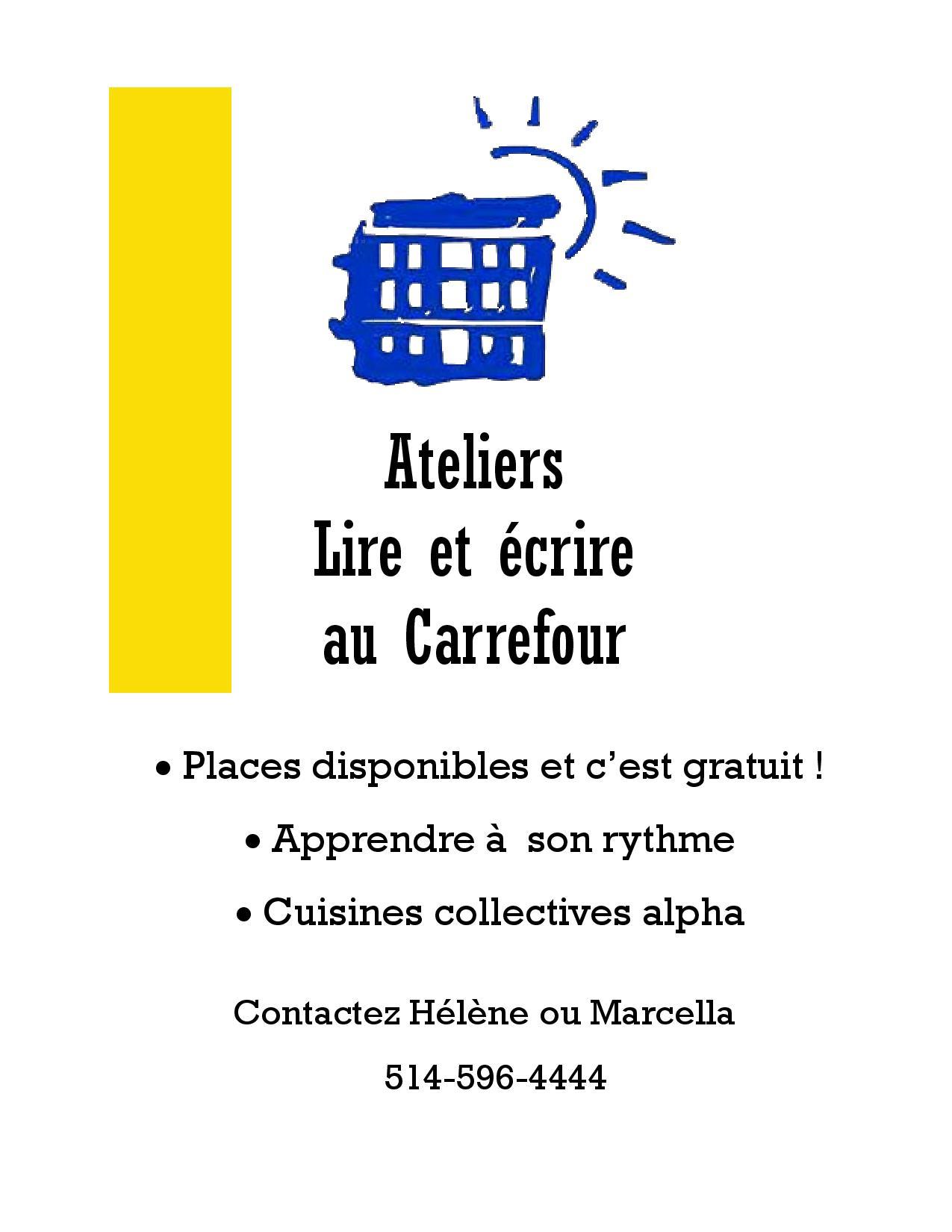 Ateliers: Lire Et Écrire Au Carrefour! | Carrefour D encequiconcerne Apprendre A Ecrire Gratuit