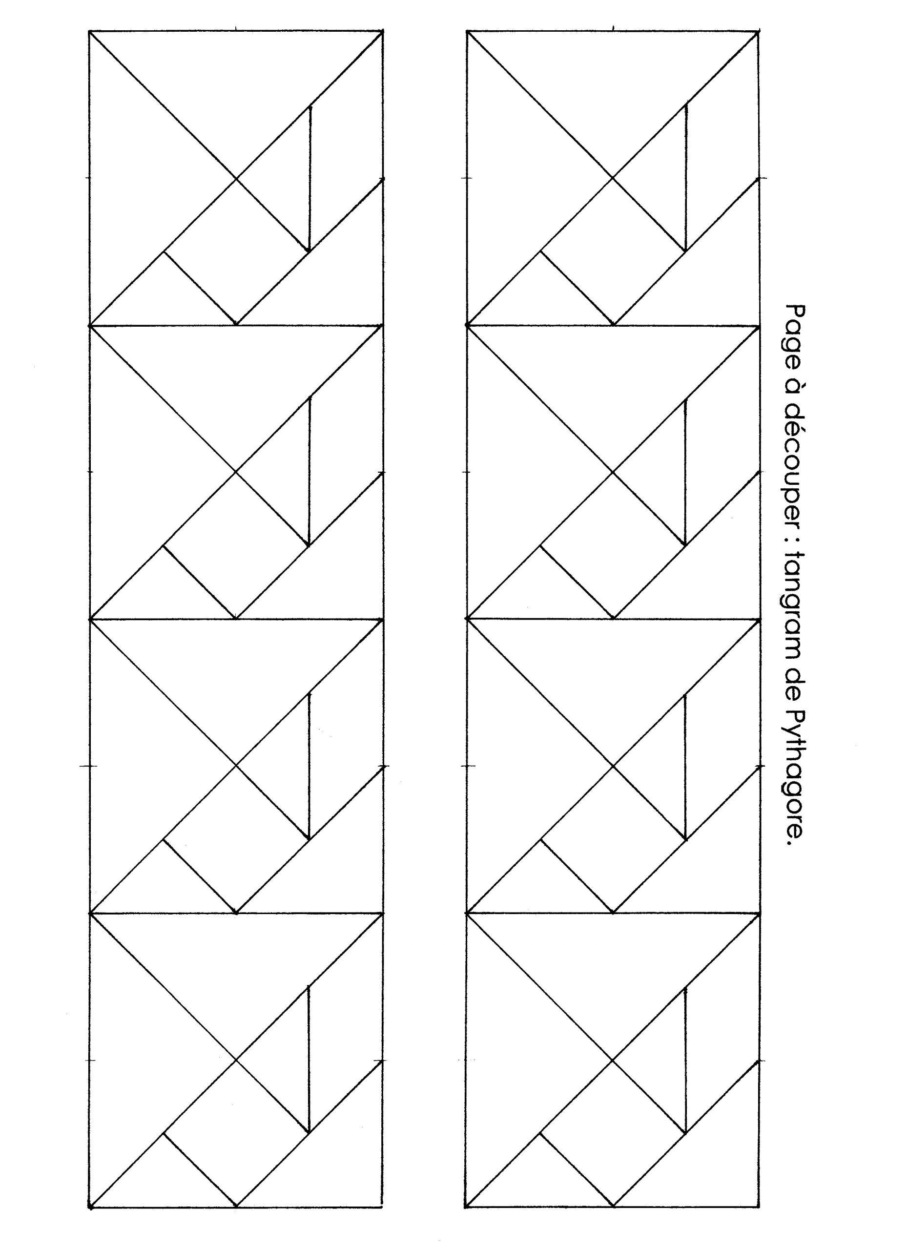 Ateliers Tangram - École Maternelle Gellow concernant Tangram En Maternelle