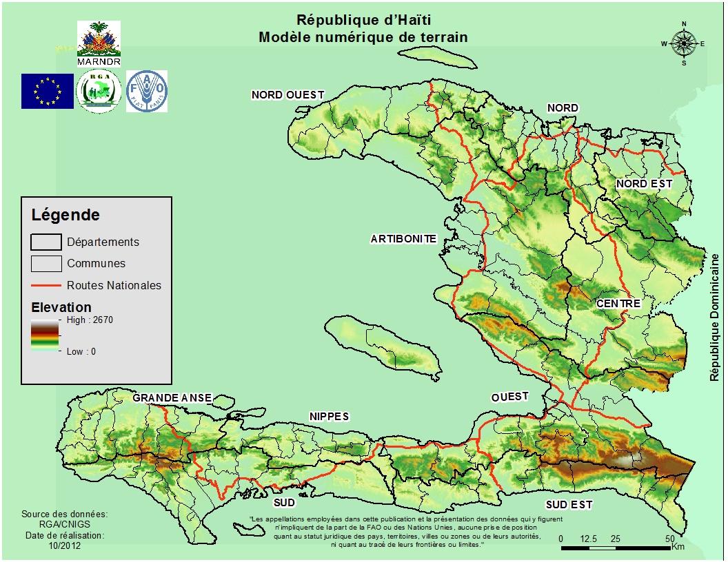Atlas Agricole D'haïti destiné Carte Avec Departement