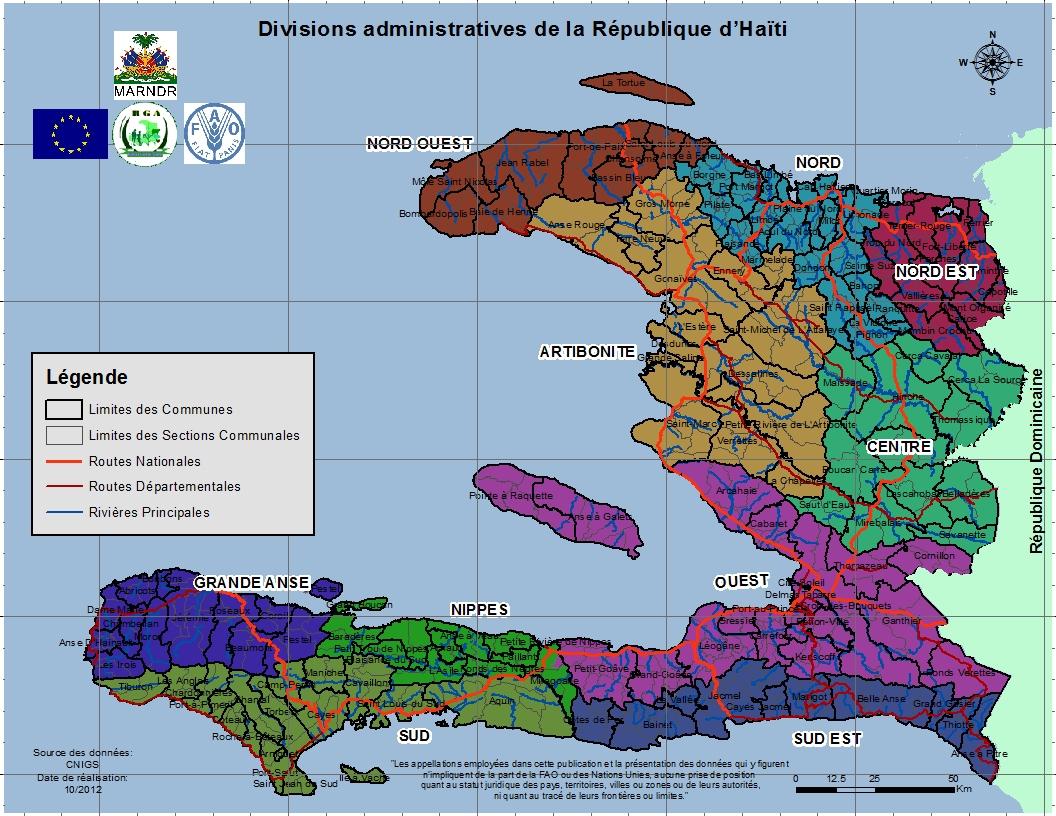 Atlas Agricole D'haïti pour Carte Avec Departement