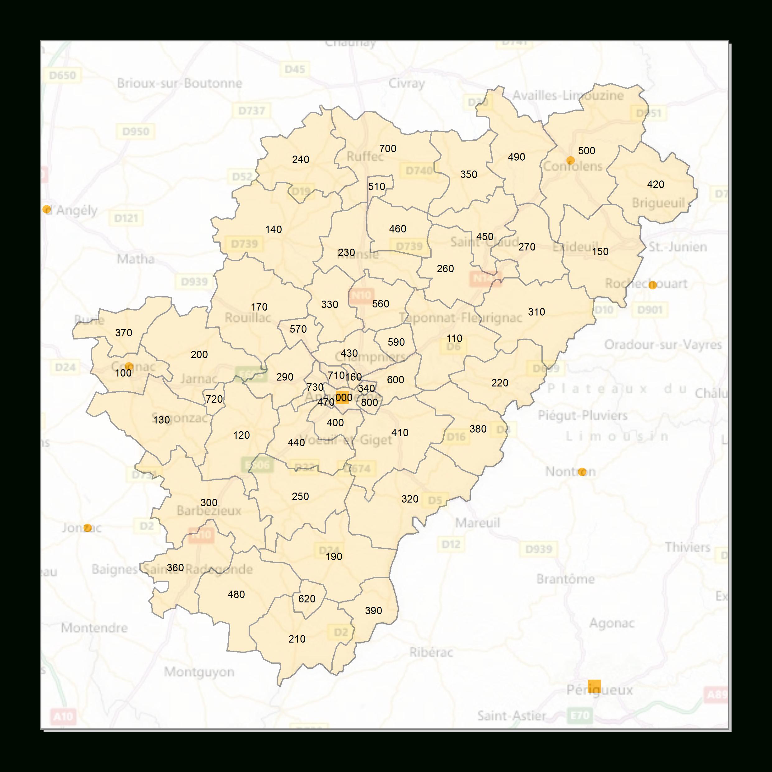 Atlas Des Codes Postaux - Cartes Des Départements De France intérieur Carte De France Numéro Département