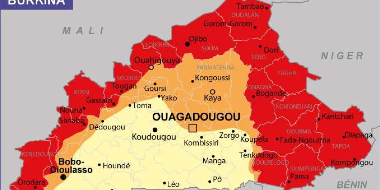Au Burkina Faso, La Dégradation De La Situation Sécuritaire intérieur Carte Nouvelle Region
