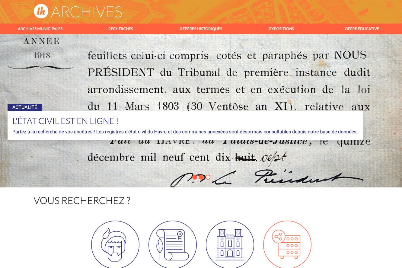Au Havre, Le Site Des Archives Fait Peau-Neuve dedans Logiciel Éducatif En Ligne