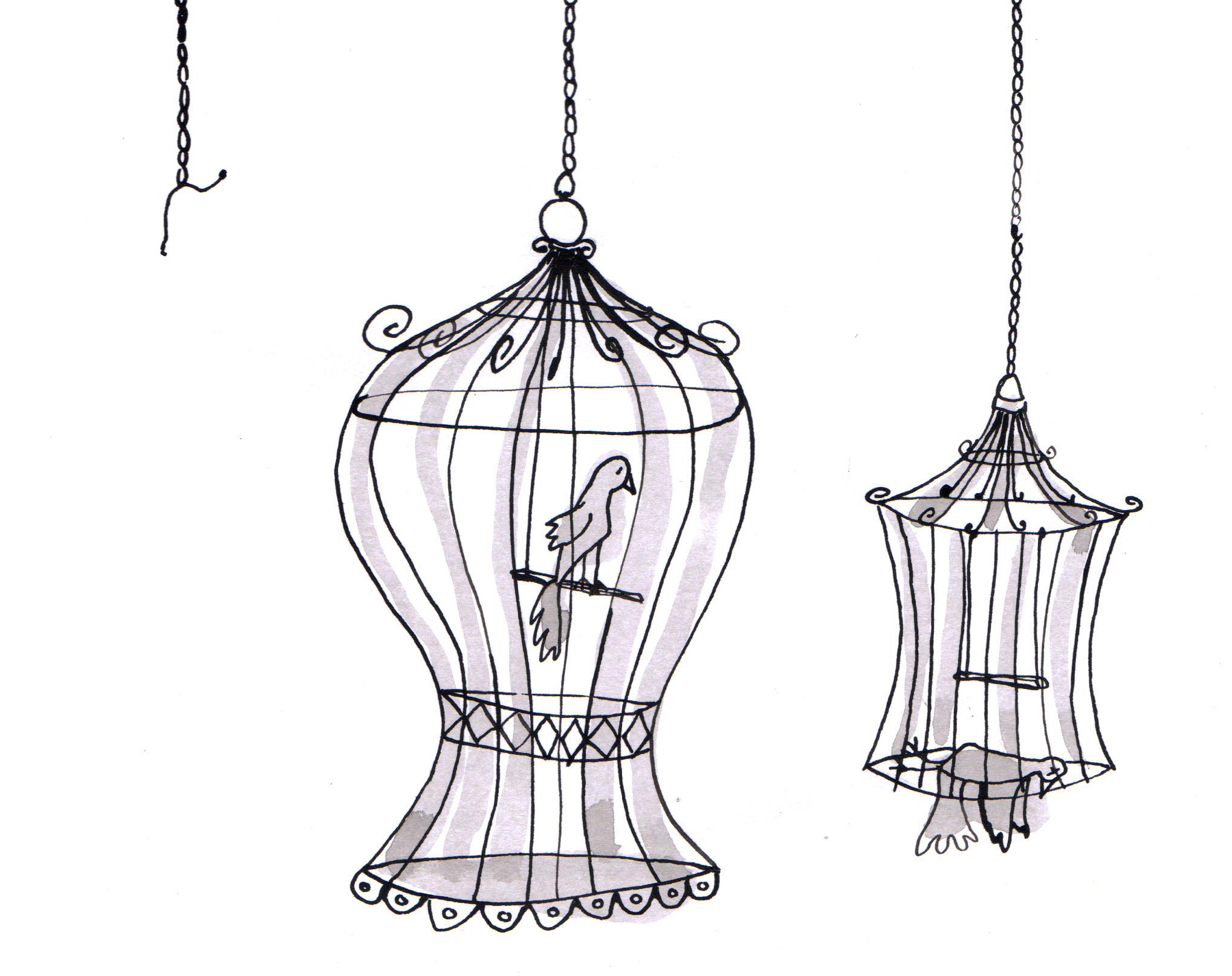 Au Minuscule | Marlene Sourdeau avec Dessin De Cage D Oiseau