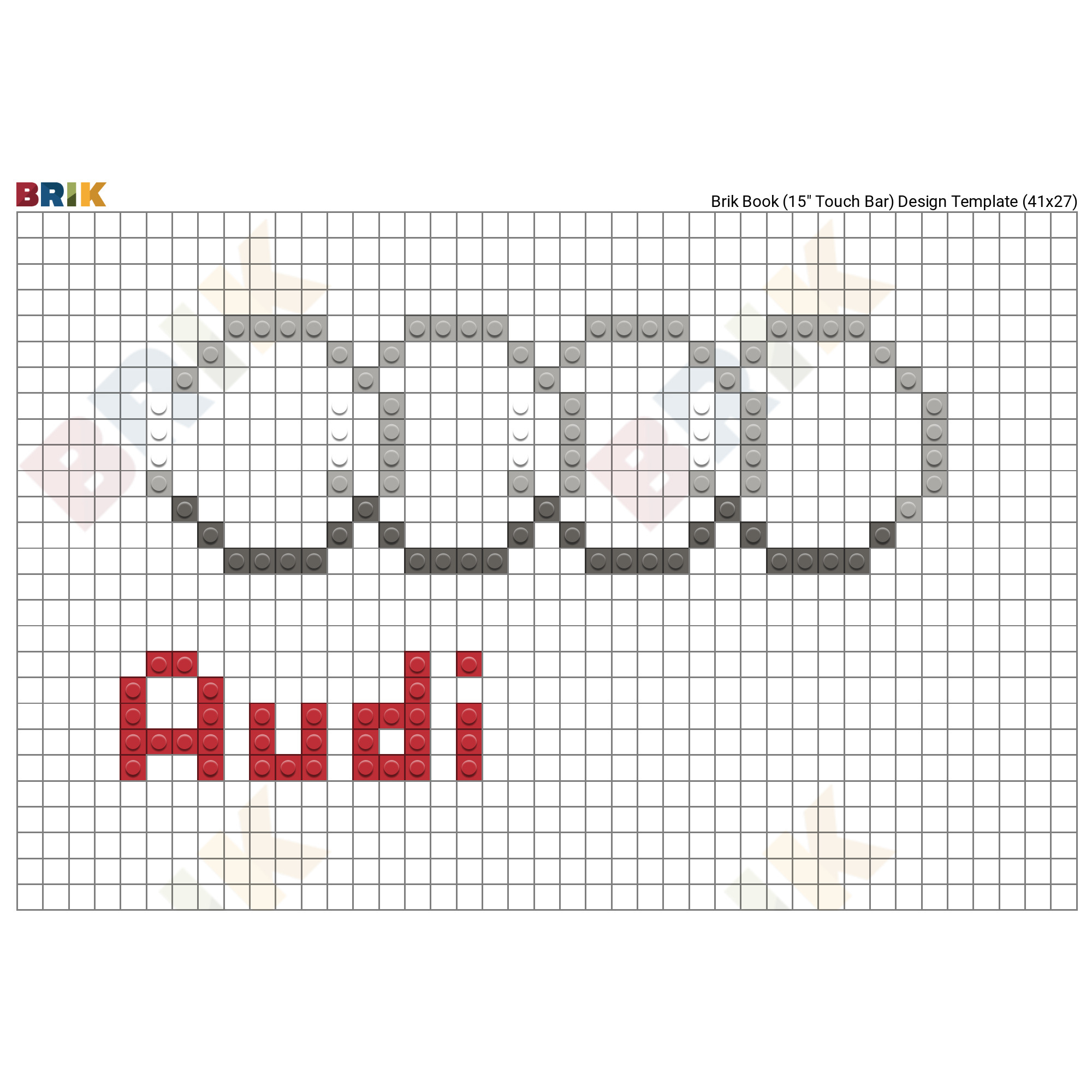 Audi Logo Pixel Art – Brik avec Voiture Pixel Art