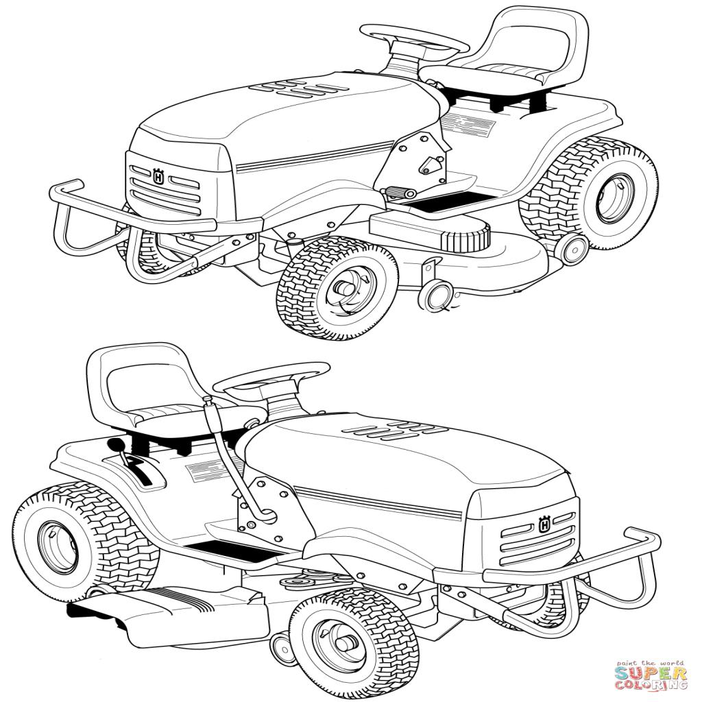 Ausmalbilder Autos Mit Anhänger Https:// pour Tracteur À Colorier