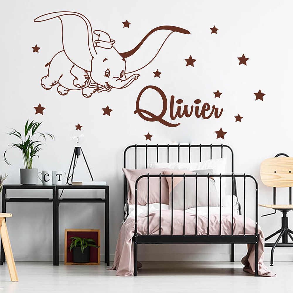 Autocollant Mural Pour Chambre D'enfants, Nom Personnalisé concernant Dessin Dumbo